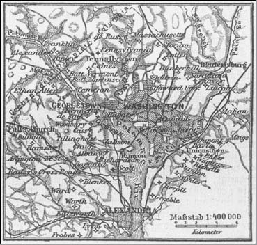 1888 German Map of Washington D.C.